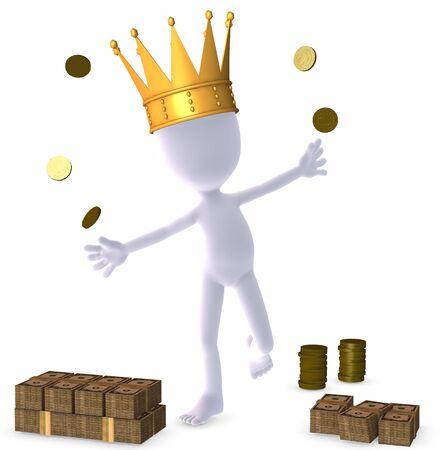 3d figure - rich man - king  photo