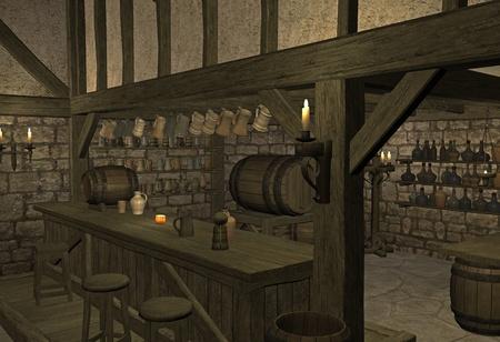 tavern: medieval tavern