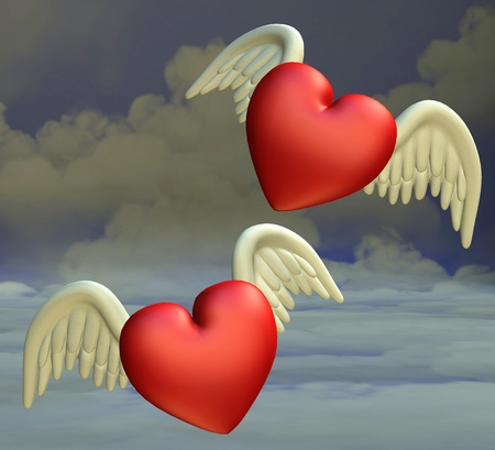 flying hearts Stock Photo - 9182333