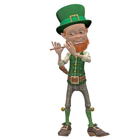 leprechaun with a flute