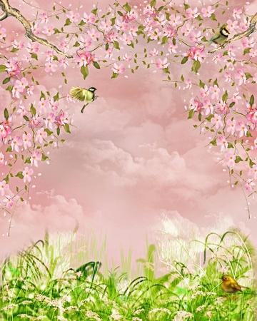 fairytale background: dreamy background