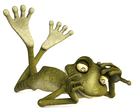 toon frog photo