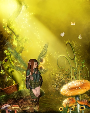 faerie: cute fairy Stock Photo