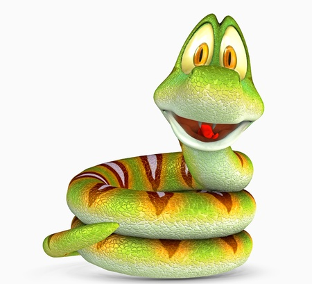 snake toon Stock Photo