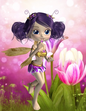 faerie: fairy toon Stock Photo