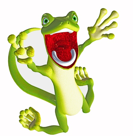 lezard: Funny gecko Banque d'images