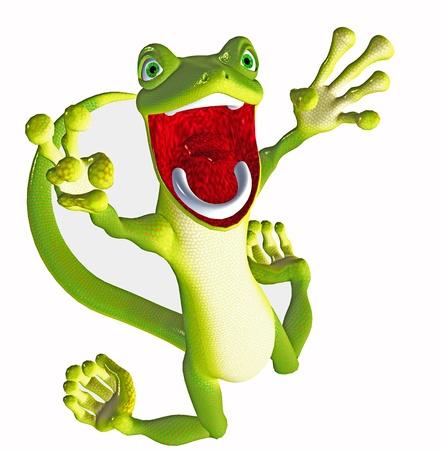lizard: gecko divertido Foto de archivo