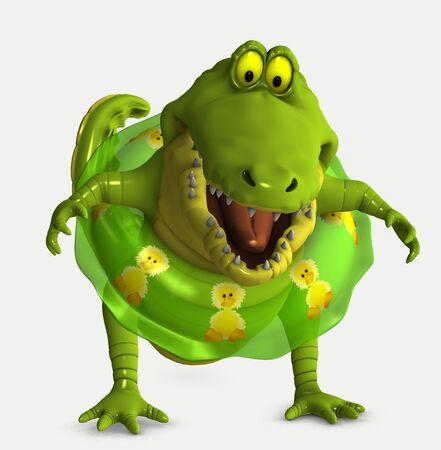 cocodrilo: croc Toon Foto de archivo