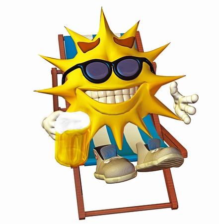 solar heating: sun lying in the sun