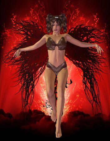 dark angel Stock Photo - 9182423