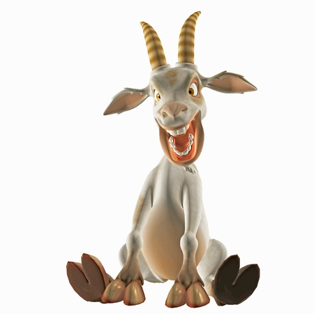 funny animal: toon goat Stock Photo