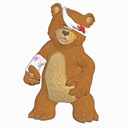 pediatric: injured bear Stock Photo