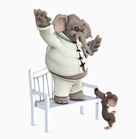 elephant and mouse Stock Photo - 9182386
