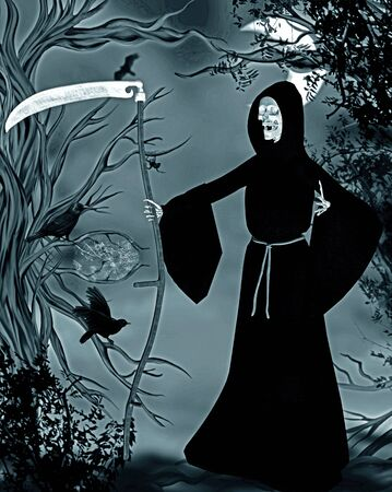 demise: grim reaper Stock Photo