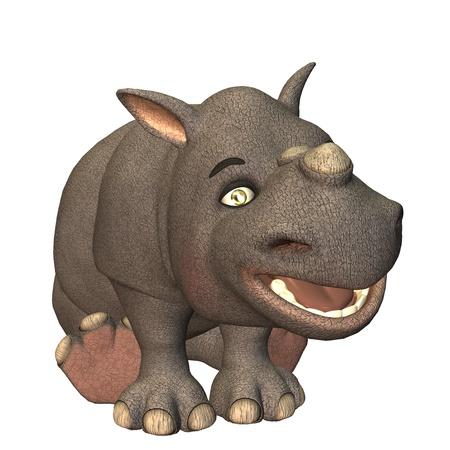 rhino toon photo