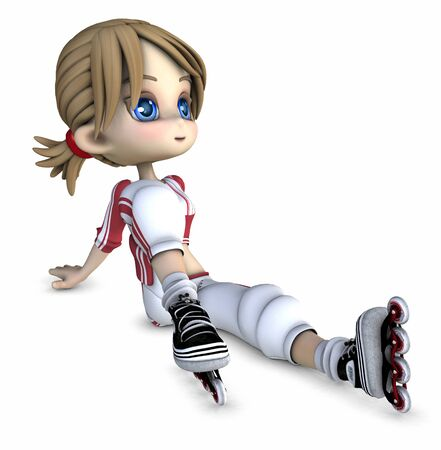 Cool girl on roller blades