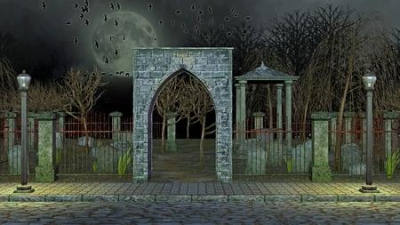 bury: graveyard Stock Photo