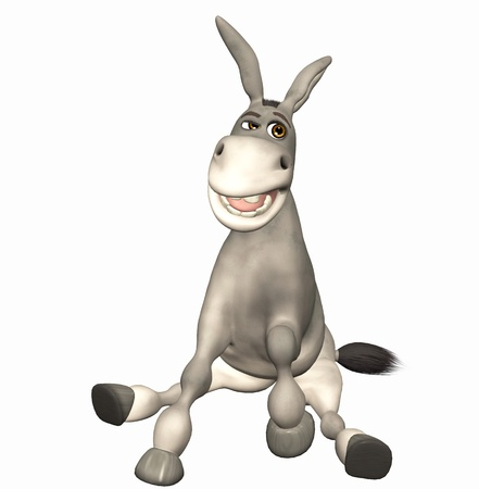 big ass: donkey toon Stock Photo