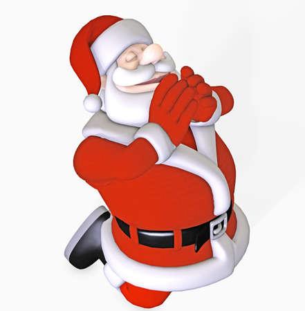 praying santa claus photo