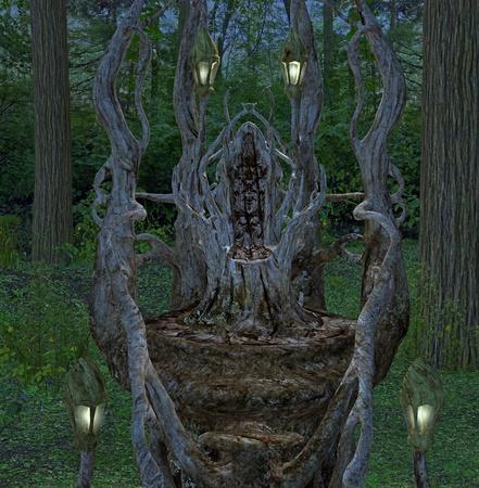 fantasy throne Stock Photo