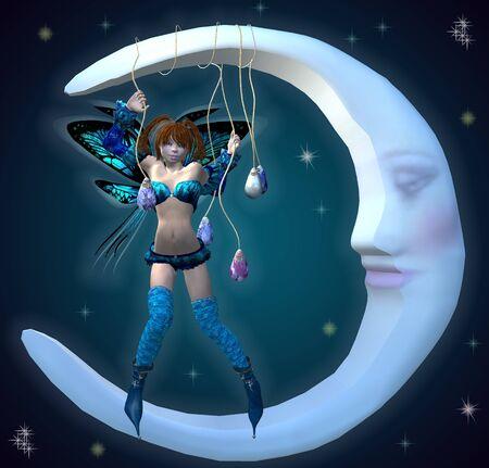 fairy on the moon photo