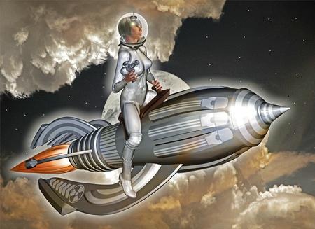 space woman photo