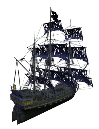 Pirate ship isolated  photo