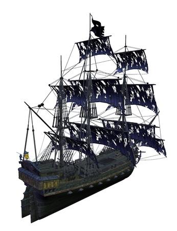 Bateau de pirates isolé