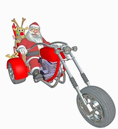 chopper: modern santa claus Stock Photo