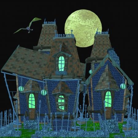 nite: haunted house Stock Photo