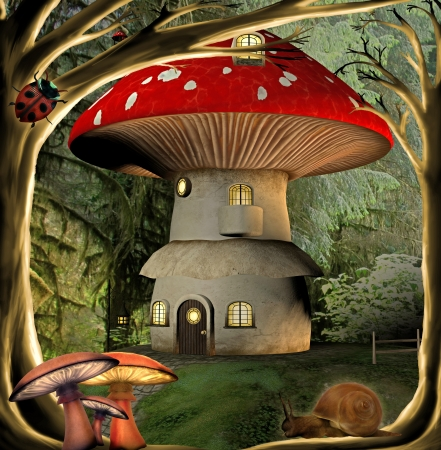 dreamy: mushroon house