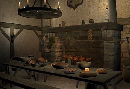 saloon: taberna medieval