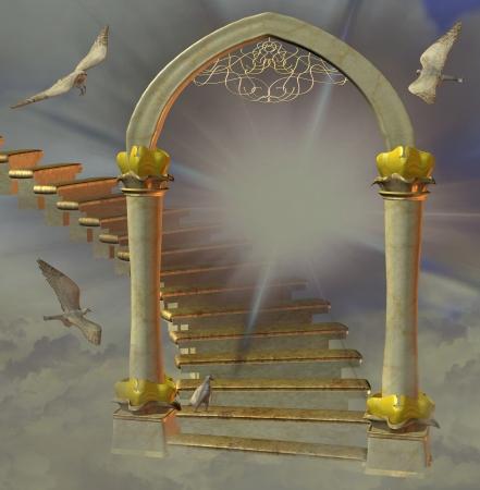 la porte du paradis Banque d'images
