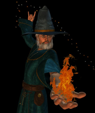 sorcerer casting a spell Stock Photo - 9209103