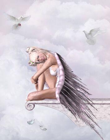 kingdom of heaven: angel in heaven Stock Photo