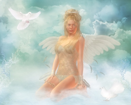 angel in heaven photo
