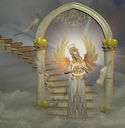 uplifting: �ngel en el cielo