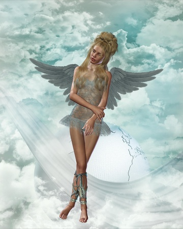 angel in heaven Stock Photo - 9209470