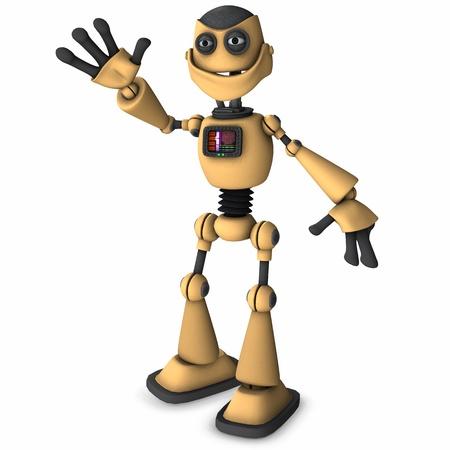 sci: robot Toon Foto de archivo