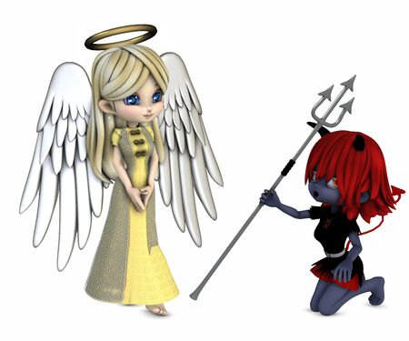 angel and devil Stock Photo - 9762069