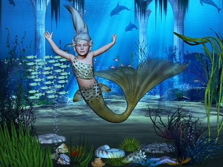killer: mermaid Stock Photo