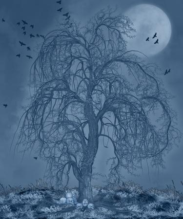 spookachtige nacht Stockfoto