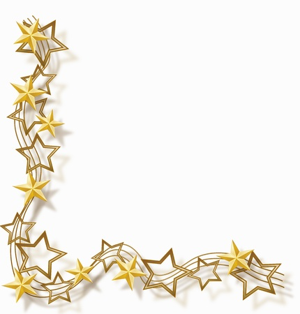 christmas border: star frame
