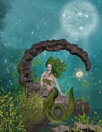 mermaid Standard-Bild