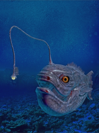 lantern fish Standard-Bild