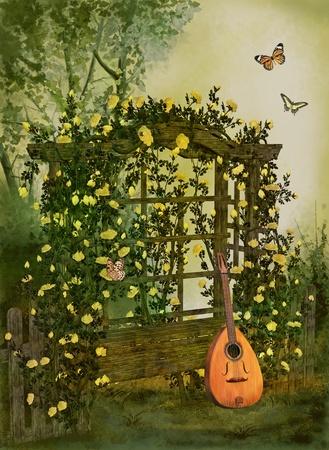 fairy garden: roses garden