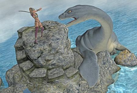 sea monster: sea monster attack