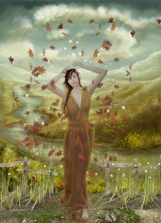 folk tales: autumn fairy