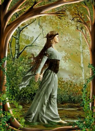 folk tales: fairy in the wood