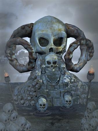 spooky throne Standard-Bild